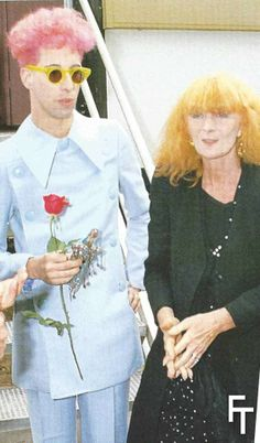 BillyBoy* and Sonia Rykiel, opening of the exhibition  Nouveau Théatre de la Mode, Jardin d'acclimatation, Paris 1985.