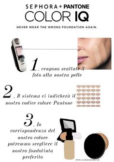 sephora-color-IQ #fondotinta #beauty #infographics #beautyinfographic #foundations #makeup #foundation