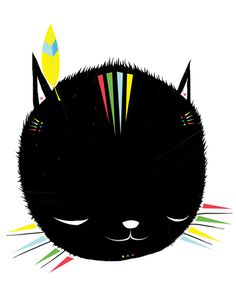 MIGHTY TIGARRR, BLACK KITTEN 묘 Stretched Canvas