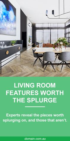 """Designing a successful open plan living and dining area can be testing and costly,"" says designer and stylist Rebecca Johnson. So where to splurge and where to save? The experts let us know. Living Room Floor Plans, Living Room Flooring, Living Tv, Living Rooms, Apartment Living, Modern Living, Modern Industrial Furniture, Timber Flooring, Open Plan Living"