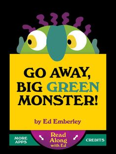 Go Away Big Green Monster! by Ed Emberley - the book turned into an app includes an excellent jazzy sing-a-long version. A great app with the sing-a-long as an extension activity for kids who already love the book. For ages 5 and under. Fall Preschool, Preschool Books, Book Activities, Preschool Activities, Big Green Monster, Monster 2, Ed Emberley, Green Monsters, Up Book