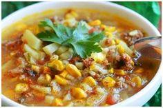 Арабский суп с кукурузой Chili, Soup, Fresh, Chile, Chilis, Soups, Capsicum Annuum, Chowder