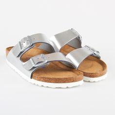 Birkenstock Arizona Metallic Silver, Birkenstock - iloveshoes.dk