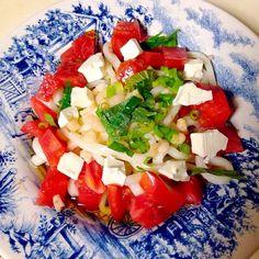 トマトとクリームチーズがね。やばい。 - 7件のもぐもぐ - サラダうどん by kealohakuui98