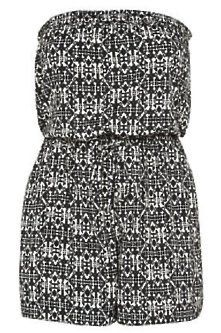 Gorgeous Plus Size Fashion for Women: Inspire at New Look - Inspire Black Aztec Print Bandeau Playsuit