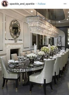 Luxury 24 Modern Table Dining Room Design In 2019 - Home Decor Interior Room Design, Dining, Dining Room Design, Luxury Dining Room, Home Decor, Luxury Dining, House Interior, Elegant Dining Room, Dream Dining Room