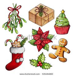 stock-photo-set-of-hand-drawn-marker-sketch-christmas-and-new-year-illustrations-holly-gingerbread-man-535494883.jpg 450×470 пикс