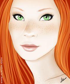 Resultado de imagem para menina ruiva em desenho