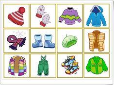 Beste 7 Kleidung Im Winter Kindergarten Seasons Activities, Winter Activities, Preschool Activities, Kindergarten, Classroom Art Projects, Math For Kids, Cartoon Pics, Matching Games, Winter Theme