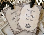 NEW - Personalized  Vintage Parisian Wedding Escort Cards / Place Cards / Tent Style - Set of 25. via Etsy.