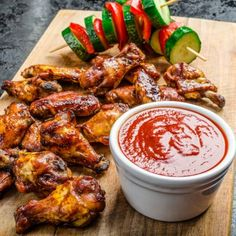 Slow-Cooked BBQ Buffalo Wings Recipe on Yummly. @yummly #recipe