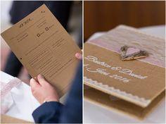 DIY Gästebuch Kraftpapier mit Fotobox Streifen - Hochzeit auf Schloss Saaleck by Color-Base Fotografie