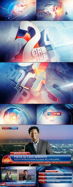 TgCom24 Channel Branding by Angelsign Studio , via Behance