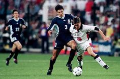 Michael Owen's sensational arrival on the international scene rips the Argentina defence apart at France 98