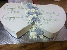 Adjoining Hearts for a couple committing to a life together. Made by Ye Olde Pie Shoppe, 732-530-3337