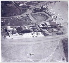 Imagem aérea da década de 1940/1950 mostrando Aeroporto de Congonhas