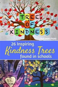 These creative kindness trees are from school all over the world. They carry a message of friendship, altruism and hope to help build a positive classroom and school community and reduce bullying. Character building at its best! Kindness Bulletin Board, Bulletin Board Tree, School Bulletin Boards, Teaching Kindness, Kindness Activities, Bullying Activities, Counseling Activities, Kindness Projects, Kindness Challenge