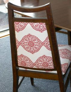 Dining room chair recovery tutorial