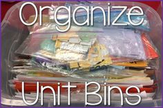 Organize Your Unit B