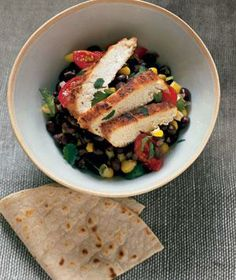 Cumin Chicken With Black Beans from realsimple.com #myplate #protein #vegetables