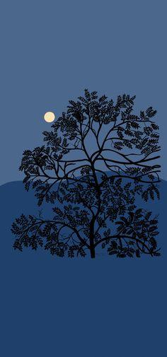 Paneelitapetti Marimekko Puu kuutamossa 15418 140x300 cm non-woven