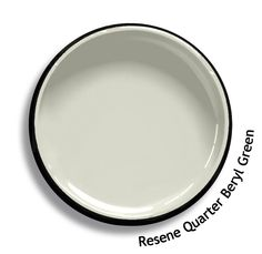 Resene Quarter Beryl Green is an off white touched with smokey ice green. From the Resene Karen Walker Paints colour range. Try a Resene testpot or view a physical sample at your Resene ColorShop or Reseller before making your final colour choice. www.resene.co.nz/karenwalker.htm
