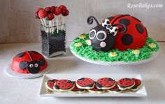 Ladybug Party: Cake, Cookies, Cake Pops and Smash Cake!