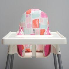 IKEA Antilop high chair pad pyttig Ikea Antilop High chair cover Nautical first Birthday Nautical baby boy Ikea cushion cover