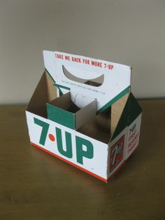 Cardboard 7 UP Carrier- bottle carrier- pop carrier- Dividers- 6 pack holder- 7 oz soda bottle- Soda Collectible -advertising by oakiesclaptrap on Etsy Advertising Logo, Bottle Carrier, Retro Recipes, Soda Bottles, Favorite Pastime, The Good Old Days, Dividers, Pepsi, My Childhood