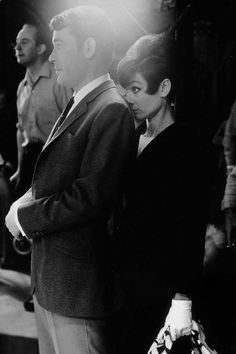 Peter O'Toole and Audrey Hepburn on the set of How to Steal a Million