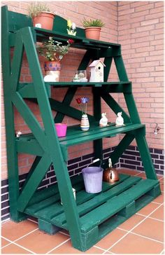 Pallet shelf - There are no instructions but I think I can build it from the picture........