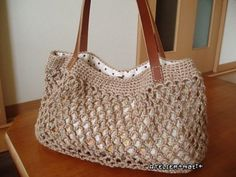 Simple Net Crochet Bag: free pattern
