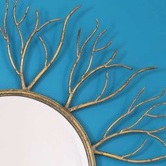 Branching Out Gold Wall Mirror