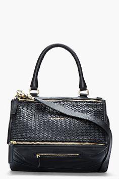Givenchy Black Leather Braided Pandora for women | SSENSE ($2,185.00) - Svpply