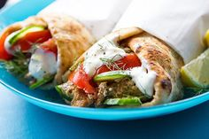 The healthiest, easiest way ever to make homemade gyros. Incredible on naan!