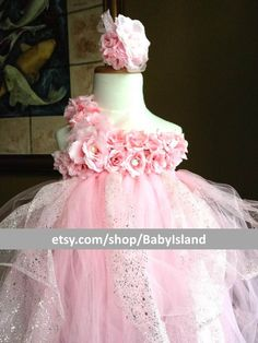 Elegant Flower TuTu dressStretchySingle StrapDaily by BabyIsland, $64.95  ZOMG I just imagined my little flower girl and ring bearer and almost SQUEEE'd myself to death.  M  C will be so adorable!