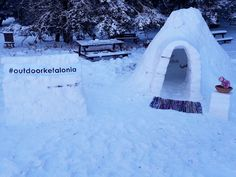 Our igloo on top of mount Ainos