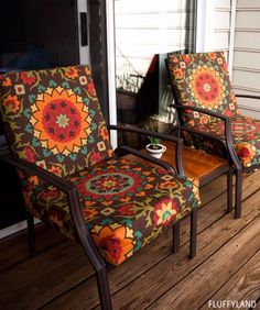 Sewing Projects for The Patio - Recovered Patio Chair Cushions - Step by Step Instructions and Free Patterns for Cushions, Pillows, Seating, Sofa and Outdoor Patio Decor - Easy Sewing Tutorials for Beginners - Creative and Cheap Outdoor Ideas for Those Who Love to Sew - DIY Projects and Crafts by DIY JOY http://diyjoy.com/sewing-projects-patio