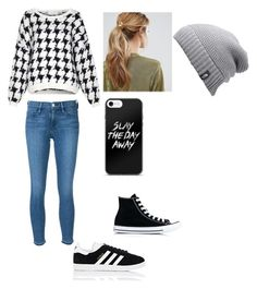 """""""Works for Winter and Spring"""" by izroman on Polyvore featuring American Vintage, Frame, Converse, adidas, Kitsch and The North Face"""