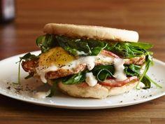 Hangover Easy Eggs Benedict Sandwich Recipe : Food Network Kitchen : Food Network