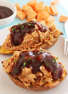 The Comfort of Cooking » 3-Ingredient BBQ Chicken Stuffed Sweet Potatoes
