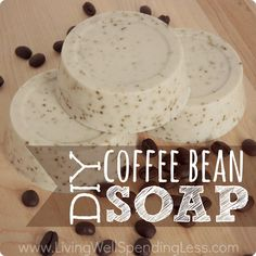 How to Make Homemade Soap | DIY Coffee Bean Soap | Easy Soap Making Easy Diy Gifts, Diy Homemade Christmas Gifts, Diy Soap Easy, Soap Tutorial, Coffee Soap, Coffee Mugs, Iced Coffee, Coffee Maker, How To Make Homemade
