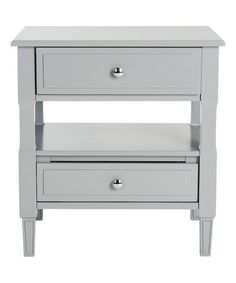 Another great find on #zulily! Gray June Two-Drawer Nightstand #zulilyfinds