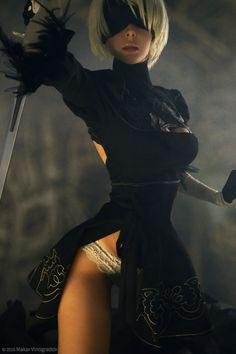 NieR: Automata 2B Cosplay by Disharmonica || cosplay-gals.tumblr.com