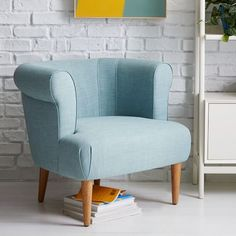 A sweet seat. Our Sadie Chair is a fresh take on a mid-century silhouette…
