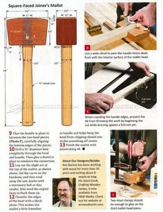 #932 Wooden Mallet Plans - Hand Tools Tips and Techniques