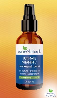 Discover the power of Azure Naturals Ultimate Vitamin C to catalyze and renew your skin. Our serum is one of the fastest working and most effective vitamin C serums available. Perfect for sun damaged skin, fades sun spots, improves discoloration, and helps protect against future damage. Refines skin texture, visibly plumping and firming skin, stimulates collagen production, reducing fine lines and wrinkles. #azurenaturals #organic #skincare #organicskincare