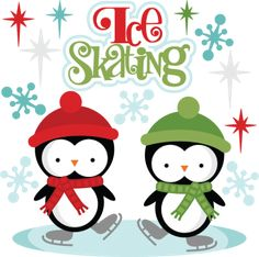 Ice Skating http://www.misskatecuttables.com/products/winter/ice-skating.php