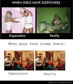 Girls Sleepovers vs Boys Sleepovers