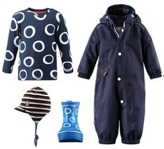 Collection for boys: Brenz play jersey, Naba Rubber boots, Aksu cap & Virva overall. Reima® Spring/Summer 2014